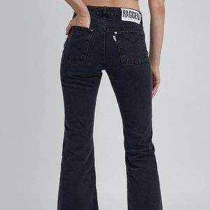 {Ragged Jeans} Black Flare Jeans